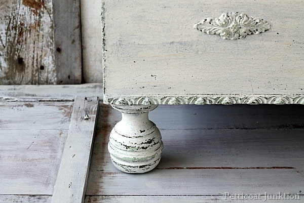 chippy mms milk paint in linen project by Petticoat Junktion