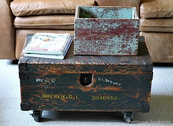 diy trunk table Petticoat Junktion