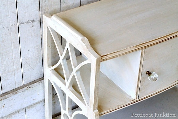 furniture painted white and antiqued Petticoat Junktion