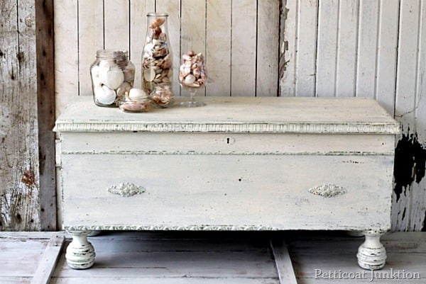 milk paint furniture project 5 days of white furniture Petticoat Junktion