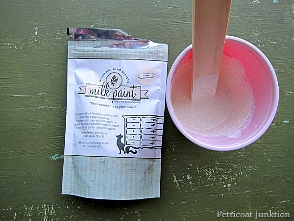 mixing mms milk paint for a project Petticoat Junktion