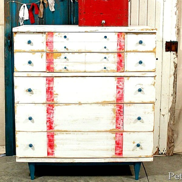 nautical style furniture in red white & blue