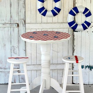 Sailboat Inspired Nautical Themed Pub Table