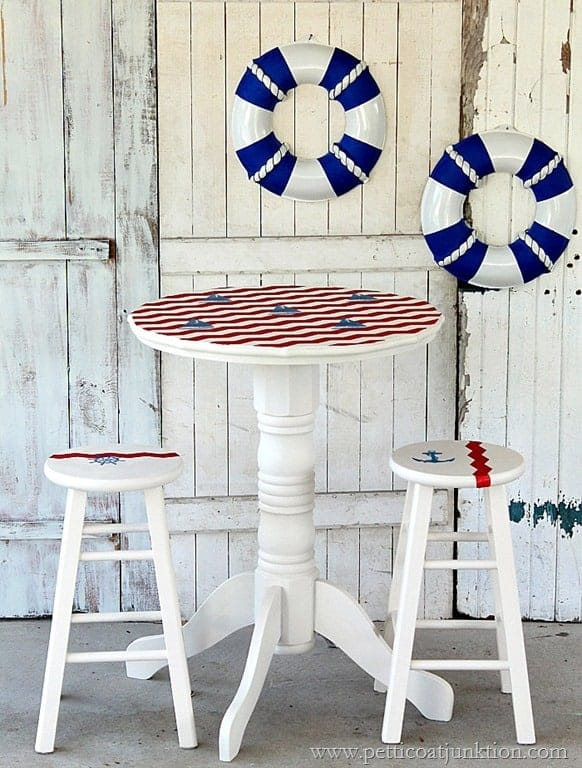 Nautical Furniture Makeover Sailboat Inspired