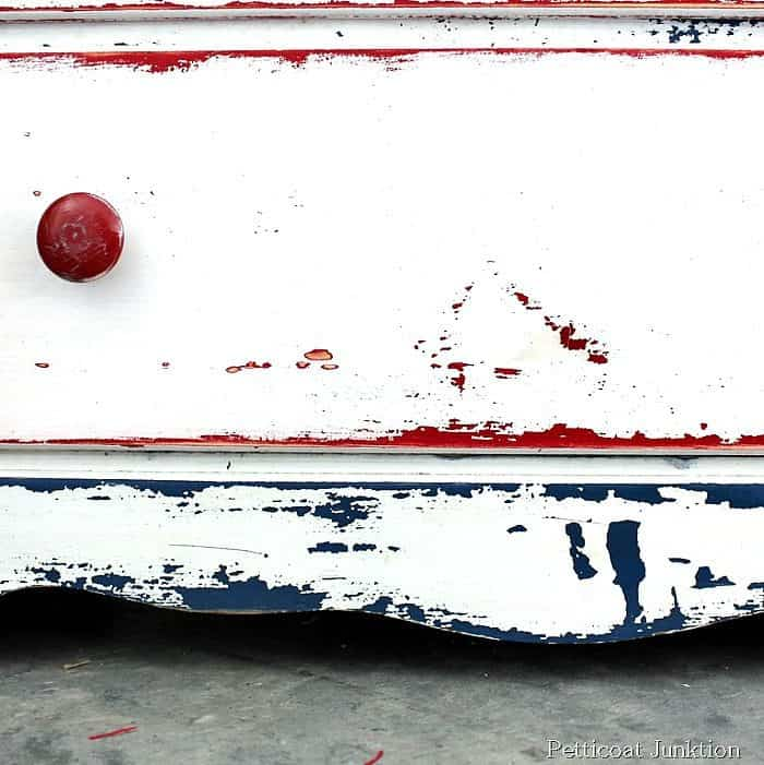red white & blue chest of drawers