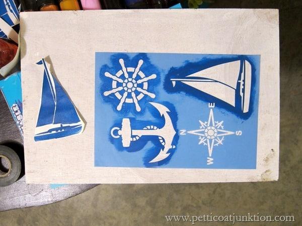 stencils for nautical theme furniture Petticoat Junktion