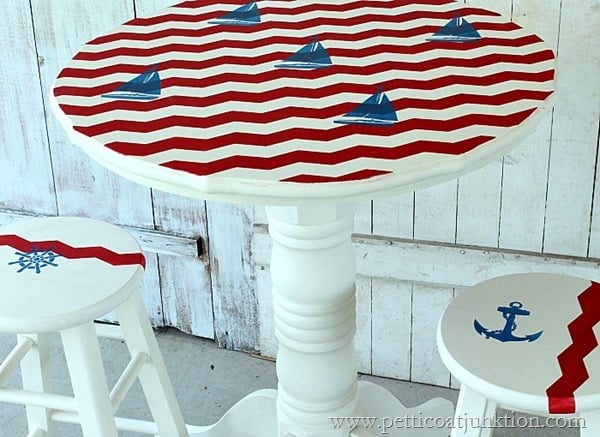 travel themed furniture sailboat inspired Petticoat Junktion