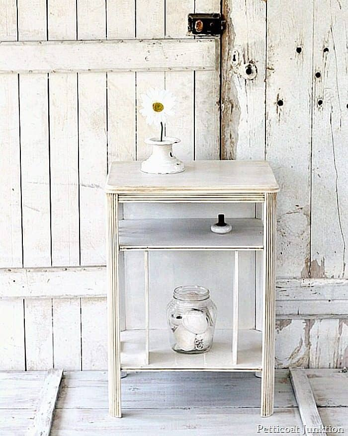 how to antique white furniture