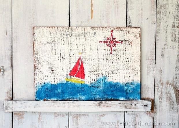 20 minute DIY nautical wall decor Petticoat Junktion