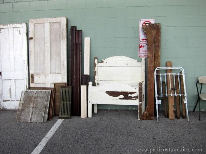 antique wood bed
