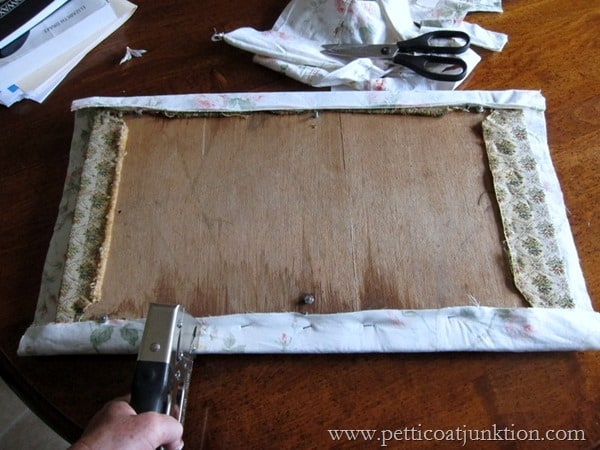 how to cover a chair seat with fabric Petticoat Junktion