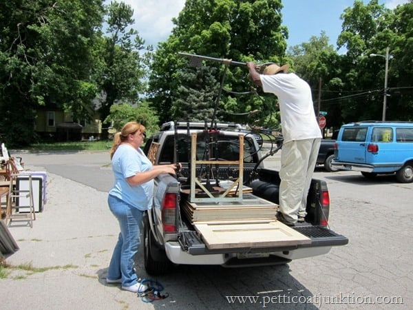 loading the truck junk shopping Petticoat Junktion