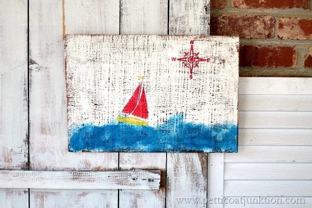 nautical sailboat wall decor diy Petticoat Junktion