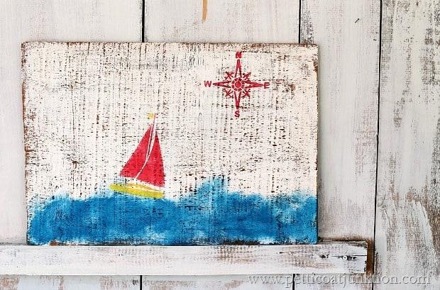 nautical wall decor 20 minute diy Petticoat Junktion