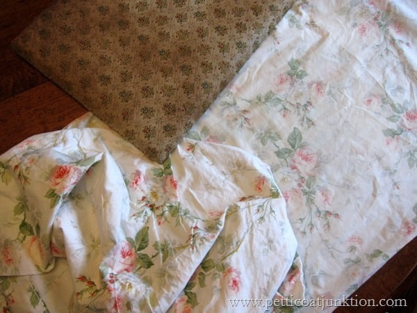 re-cover a chair seat Petticoat Junktion French Provincial Vanity bench