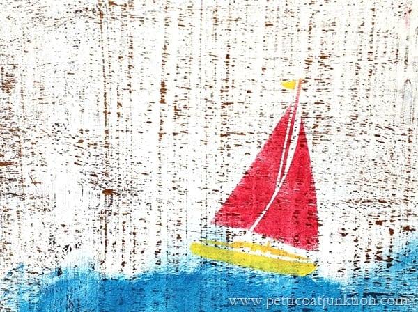 sailboat wall decor diy Petticoat Junktion