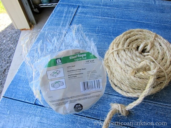 sisal rope for drawer pulls on nautical themed furniture Petticoat Junktion