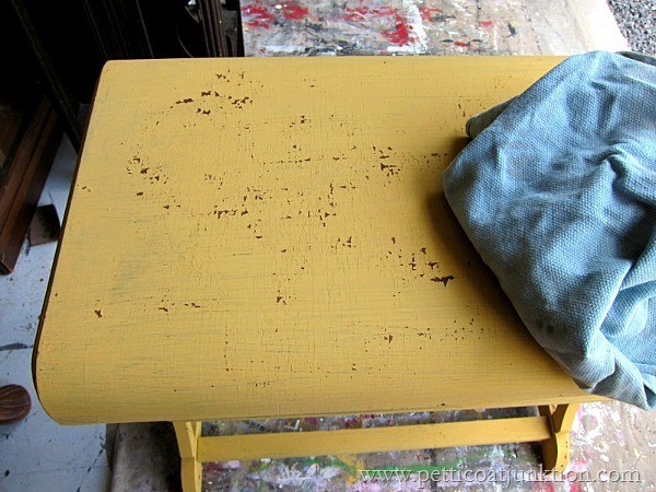 Chippy milk paint Petticoat Junktion project