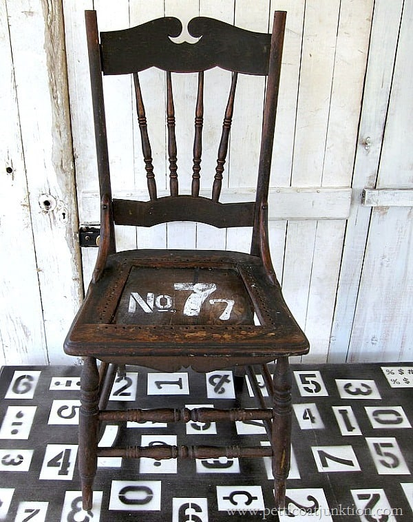 How to stencil numbers on furniture the easy way Petticoat Junktion