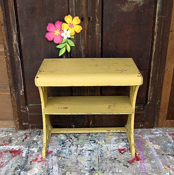 MMS Mustard Seed Yellow Milk Paint Project by Petticoat Junktion