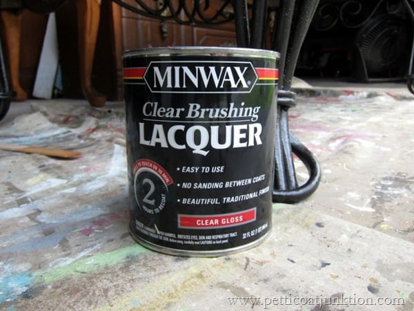 MinWax Lacquer Project Petticoat Junktion