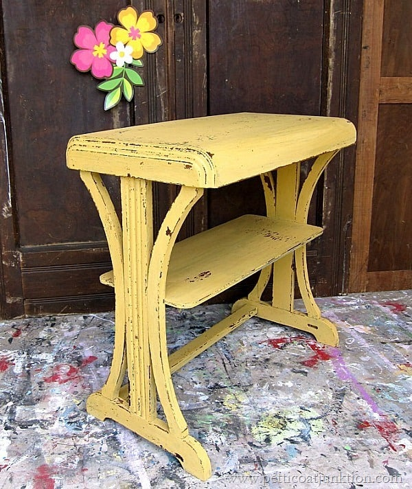 Mustard Seed Yellow Happy Dance Petticoat Junktion paint project