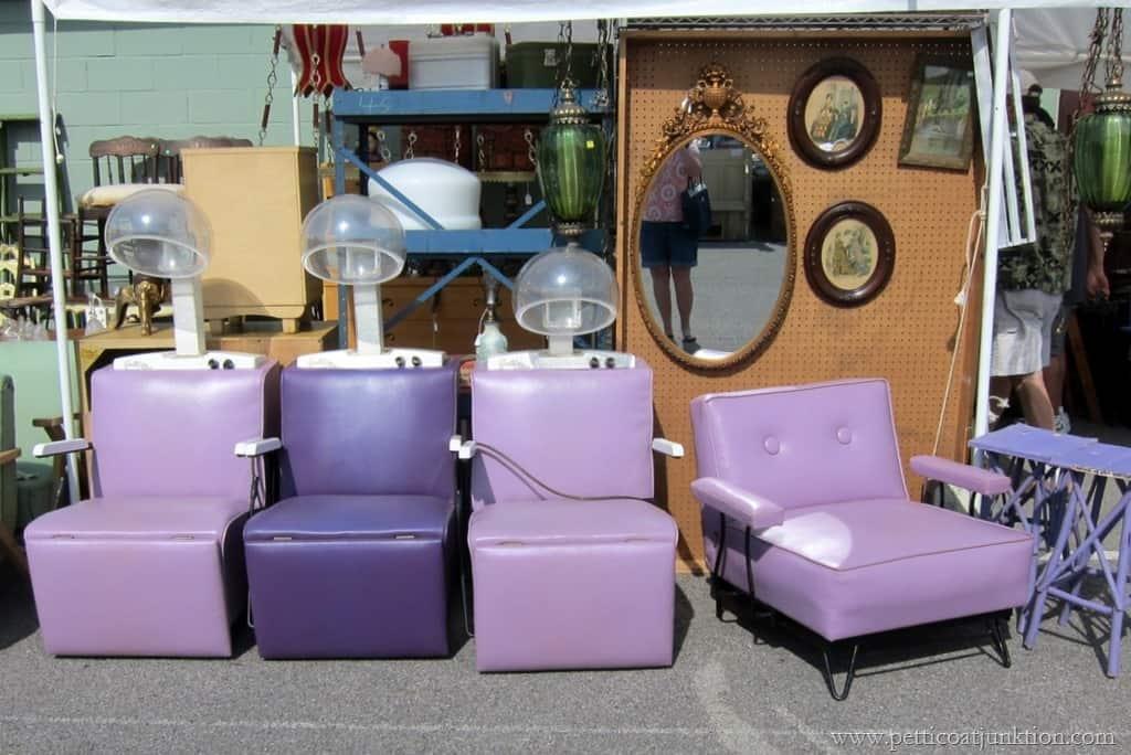 Vintage Purple Chairs Nashville Flea Market Petticoat Junktion & Vintage Purple Chairs The Hair Dryer Beauty Shop Kind - Petticoat ...