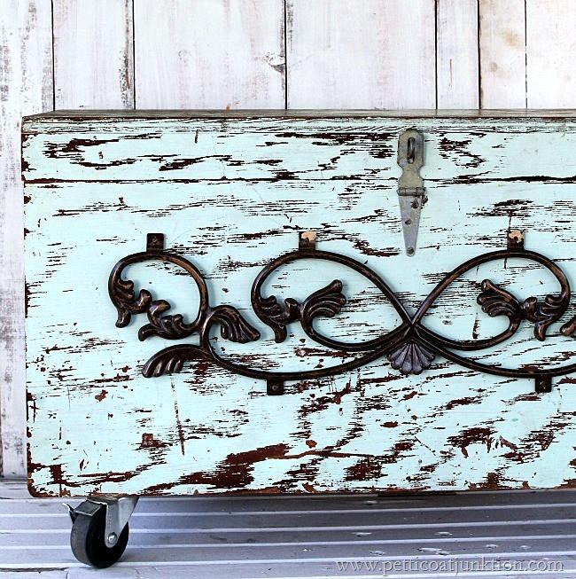 add pizazz to a flea market trunk Petticoat Junktion