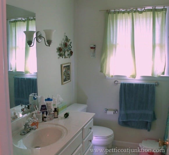 How to add color to walls with wallternatives wall decals for Redecorating a small bathroom