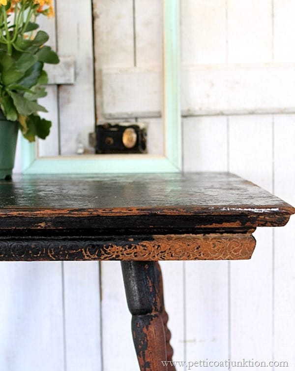 beautiful antique table details Petticoat Junktion