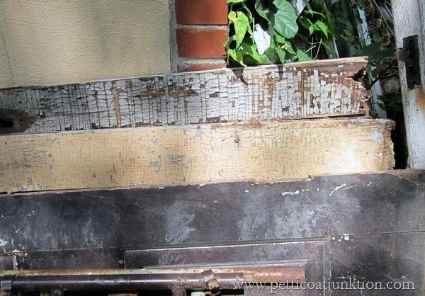 crackle paint on an antique door