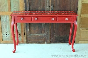 Easy Bandana Pattern Decoupage Table