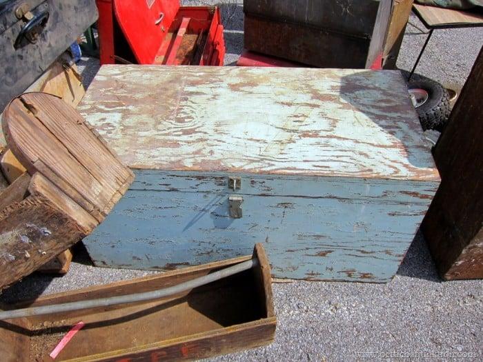 old green tool box