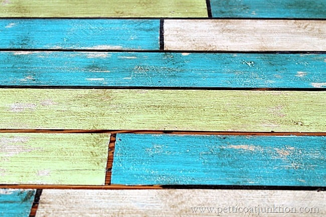 how to faux paint an antique plank table
