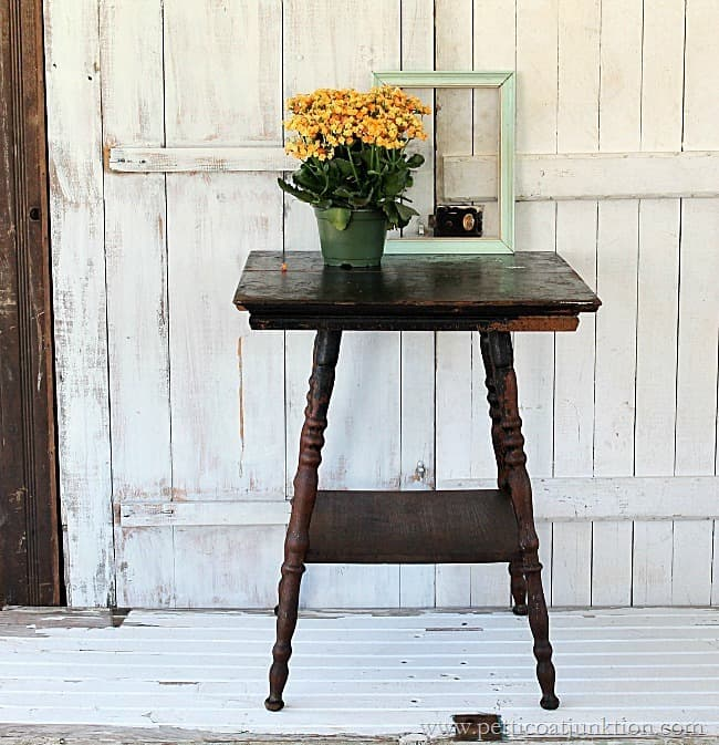 how to make an antique table beautiful again Petticoat Junktion