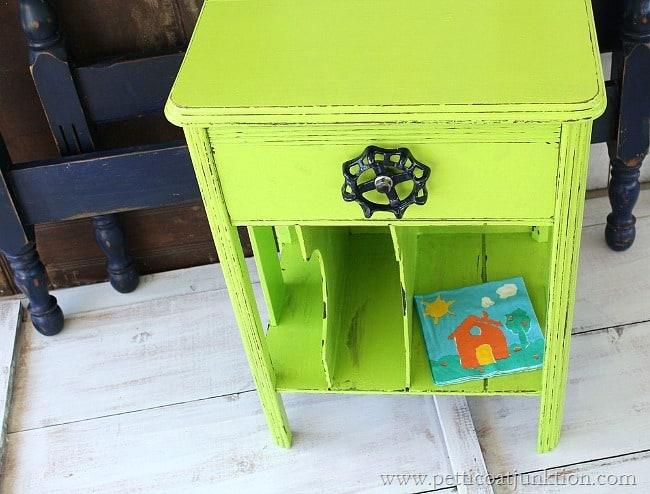 lime green nightstand