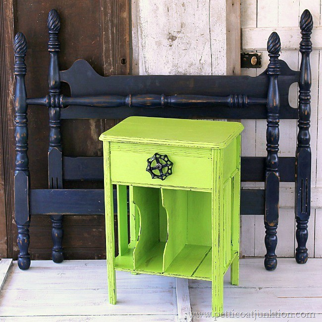 Green nightstand navy blue bed loud and proud petticoat for Navy blue painted furniture