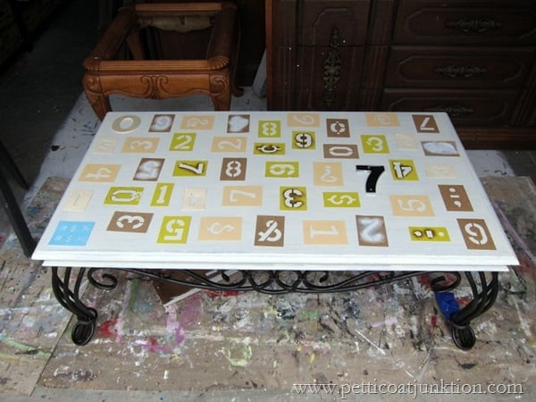 numbers furniture theme paint project Petticoat Junktion Table