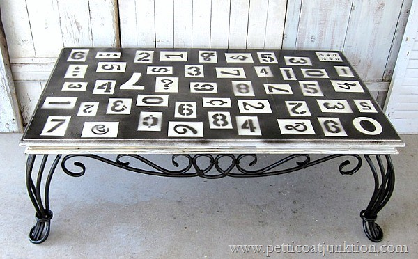 numbers table themed furniture idea Petticoat Junktion