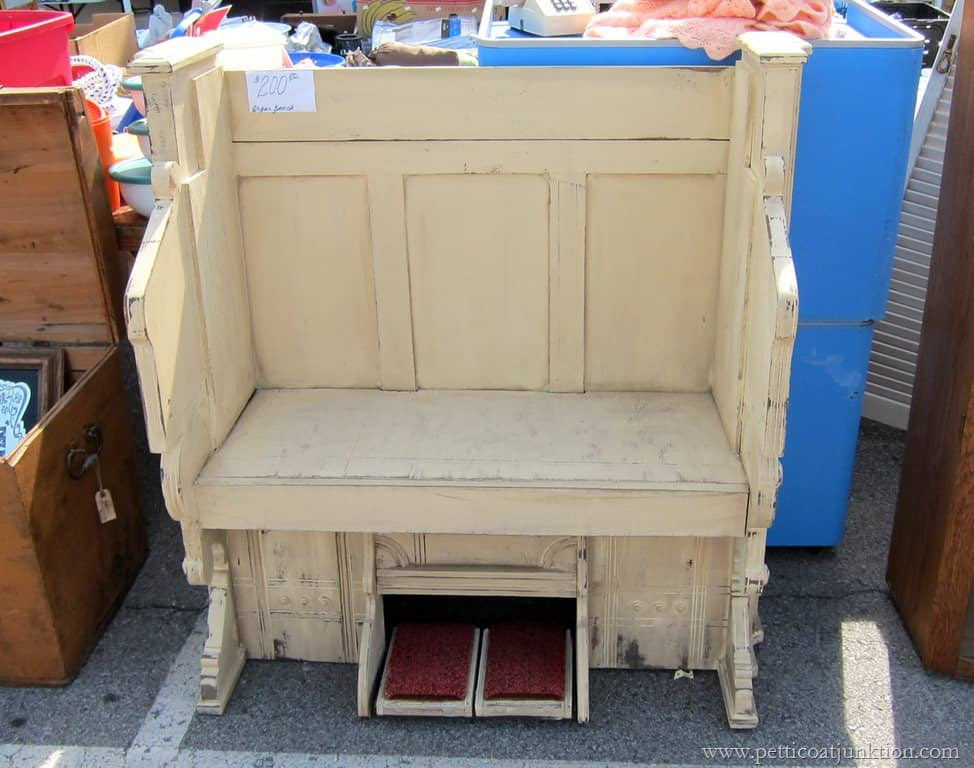 recycled organ bench project Nashville Flea Market & Vintage Purple Chairs The Hair Dryer Beauty Shop Kind - Petticoat ...