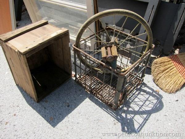rusty bicycle wheel wreath or clock