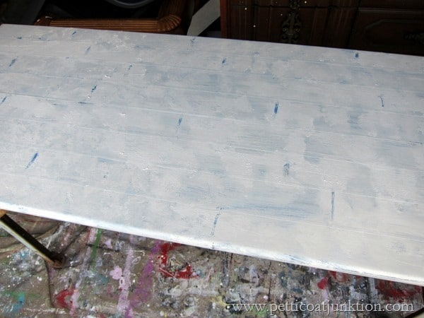 table painted white step 4