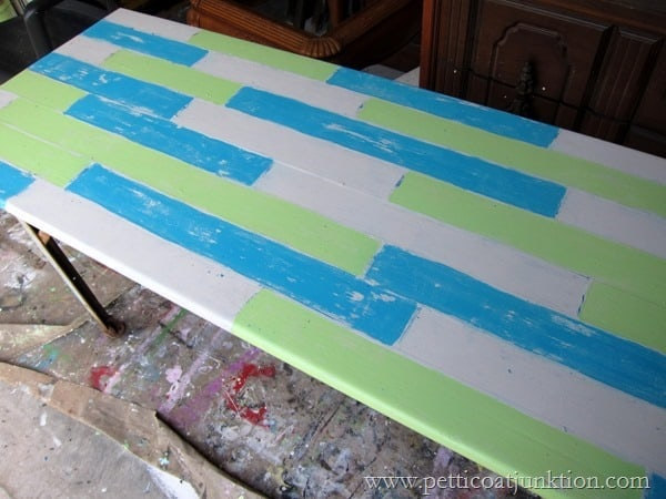 tabletop planks distressed step 7
