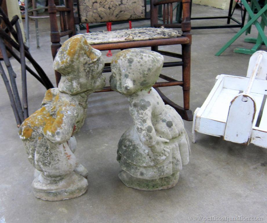 Old Garden Statue: Vintage Garden Statues At The Nashville Flea Market