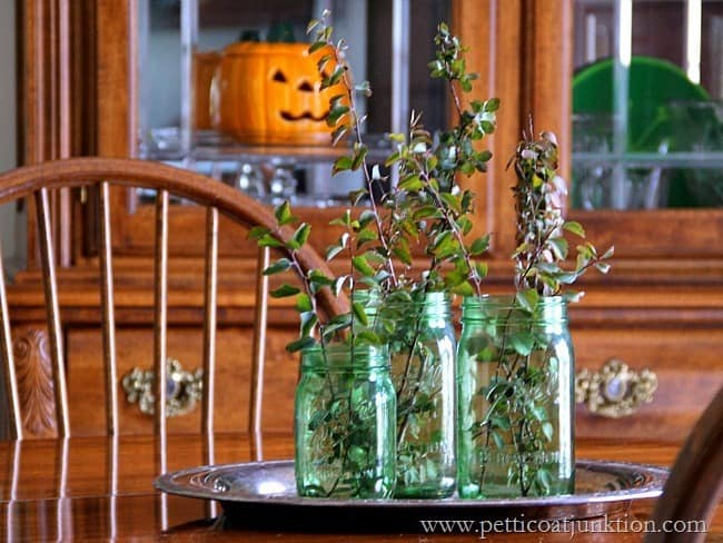 Decorating with Green Ball Jars Petticoat Junktion