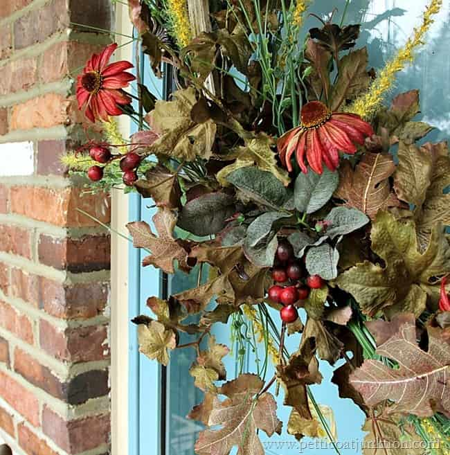 Easy DIY Fall Wreath Petticoat Junktion