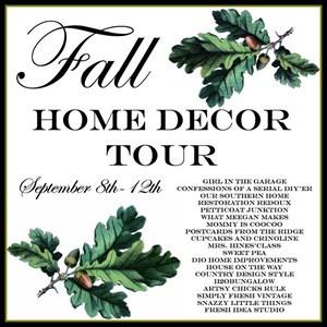 Fall Home Decor Tour Graphic