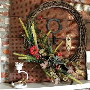 Colors of Fall Wreath { Fall Home Decor Tour }