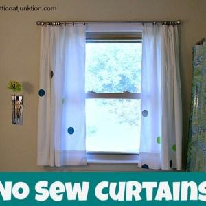 Budget No Sew Curtains