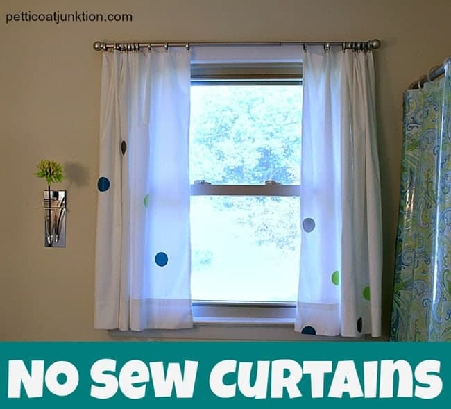 White No Sew Curtains Petticoat Junktion
